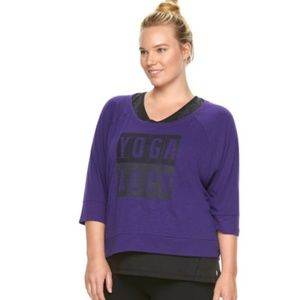 Gaiam • purple yoga workout top